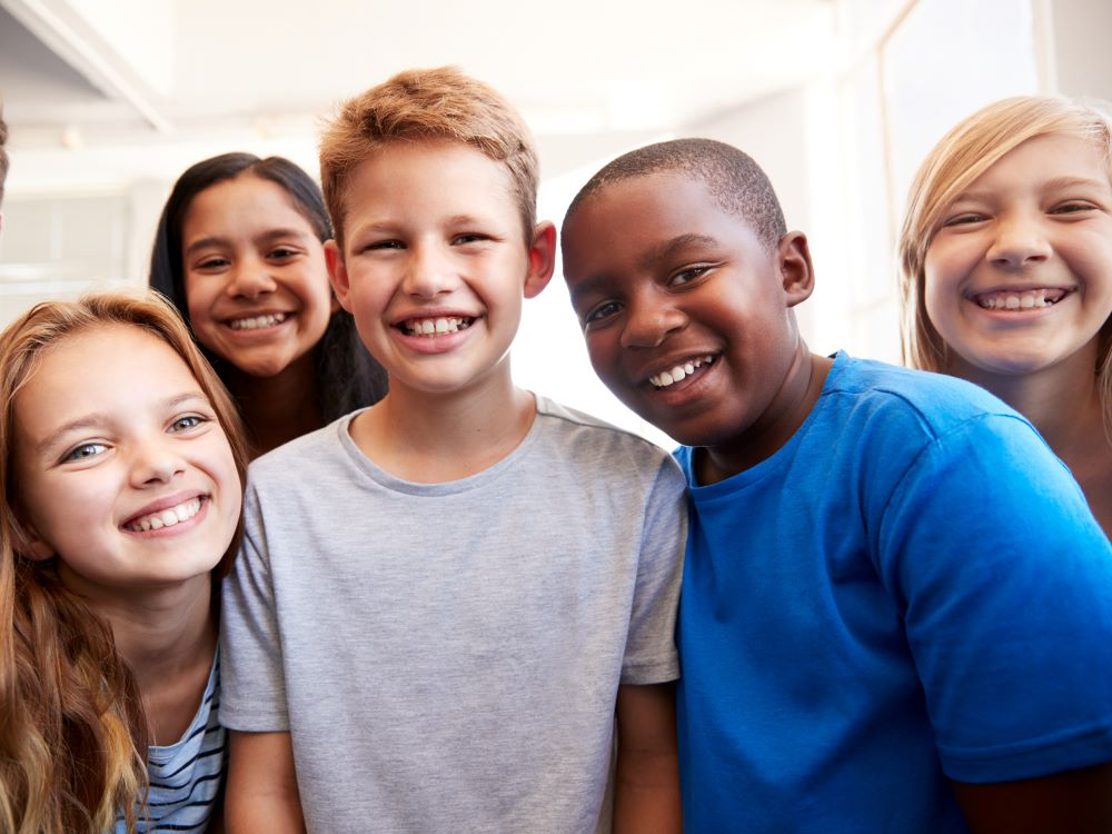 Group of middle school students
