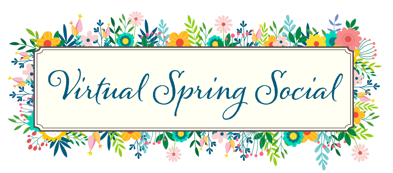 Virtual Spring Social header with title of event