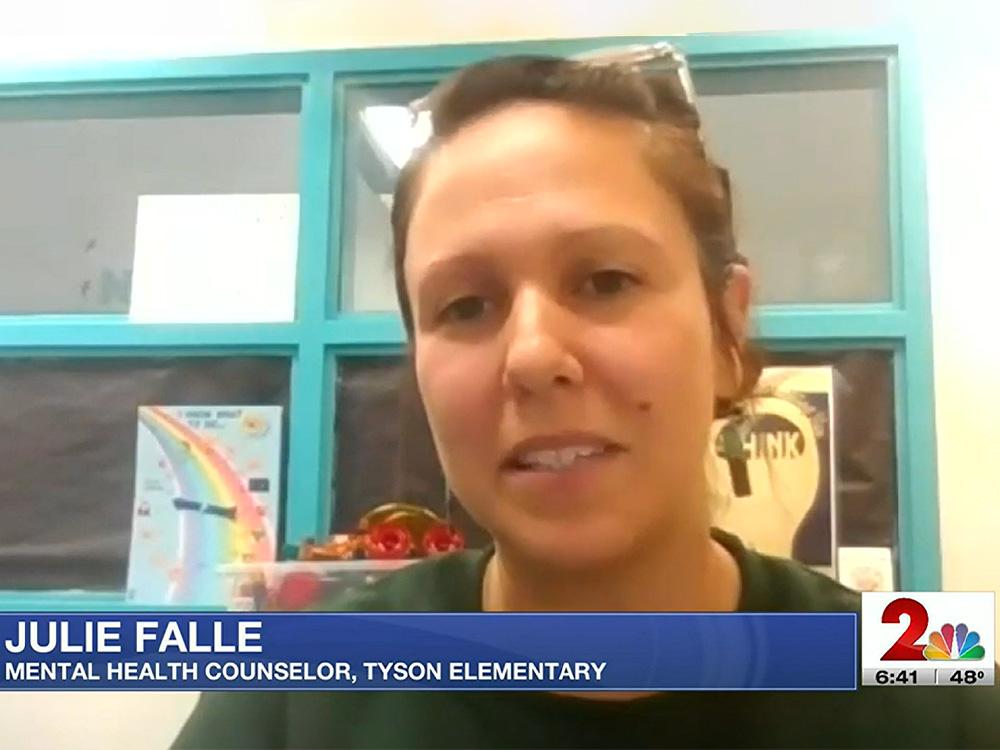 Screenshot of Julie Falle on KTUU
